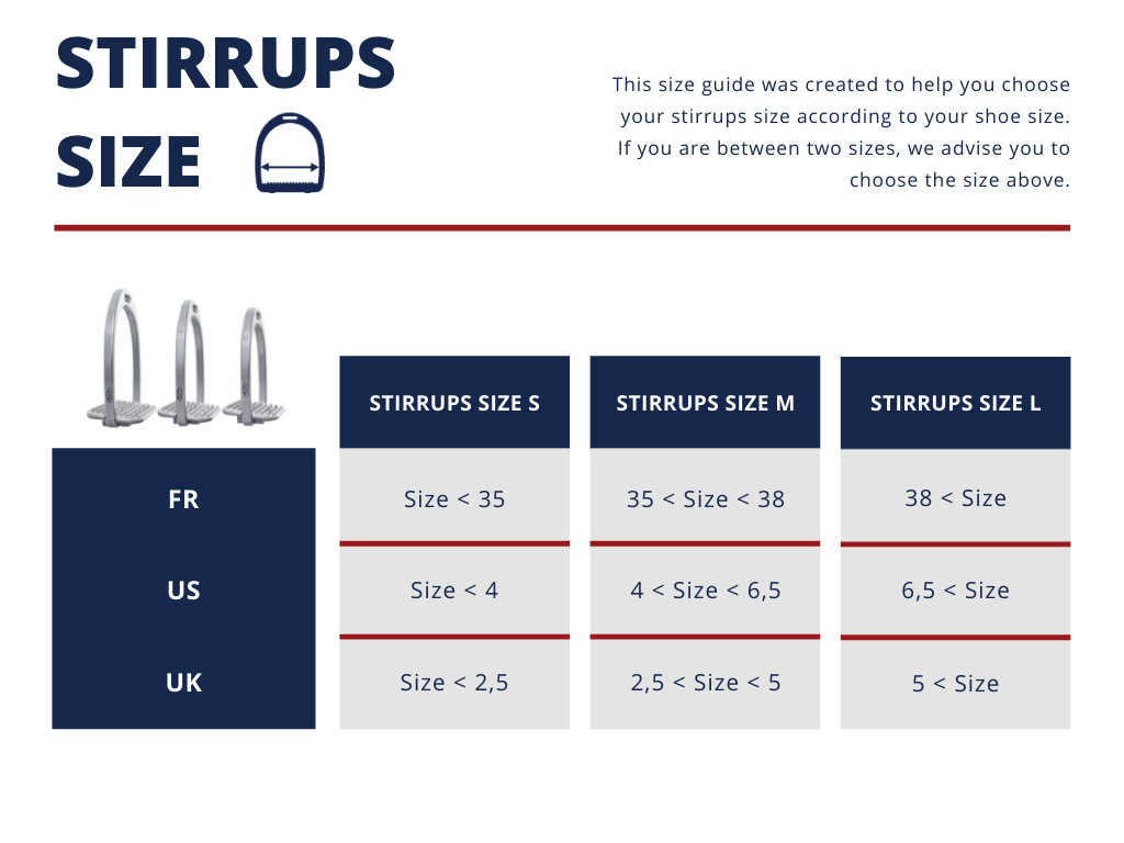 Stirrups size